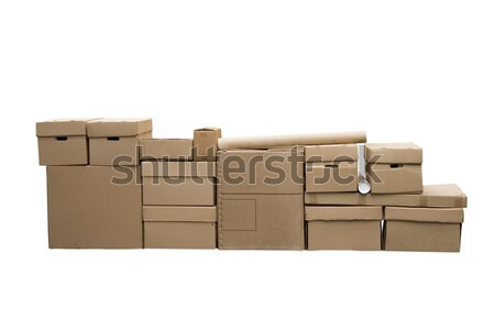 Brown different cardboard boxes Stock photo © caimacanul