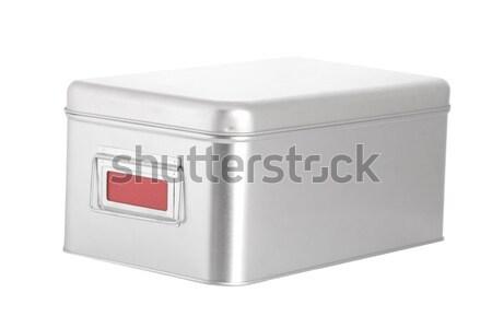 Nyitva ezüst acél doboz fehér orvosi Stock fotó © caimacanul