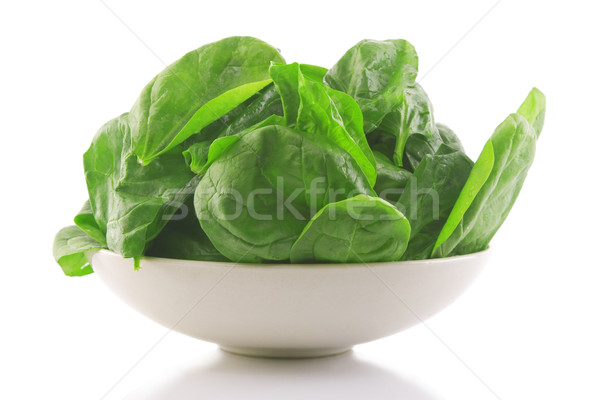 fresh spinach in a white bowl  Stock photo © caimacanul