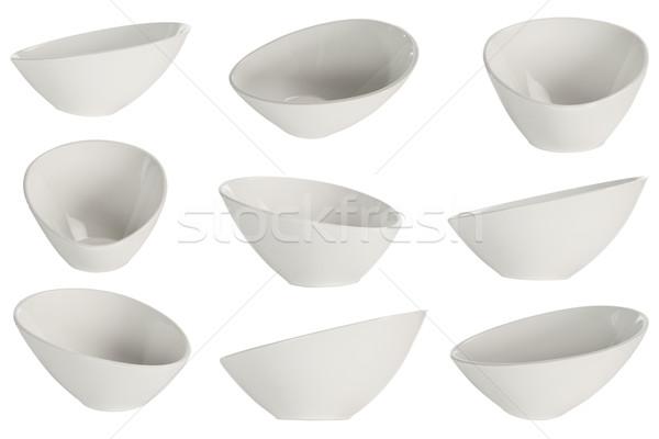 Vacío tazón nueve punto vista blanco Foto stock © caimacanul