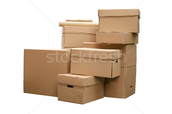 cardboard boxes arranged in stack Stock photo © caimacanul