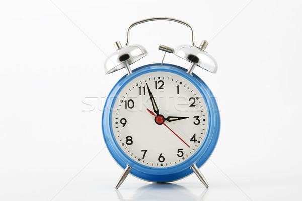 синий серебро колокола белый часы ночь Сток-фото © caimacanul