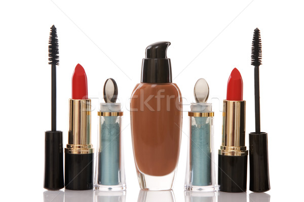 red lipstick and cosmetics, beauty concept Stock photo © caimacanul