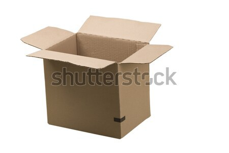 open corrugated cardboard box  Stock photo © caimacanul