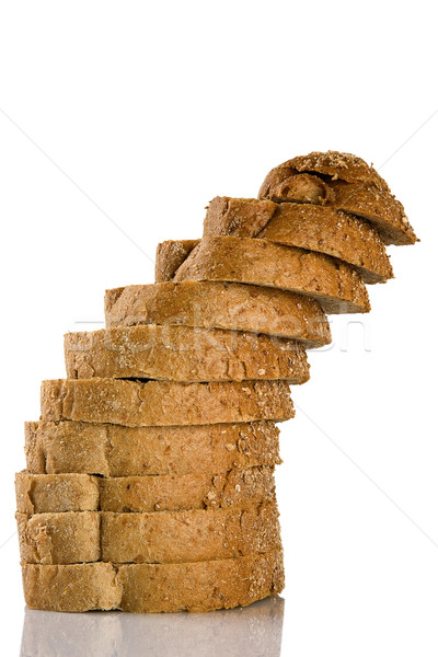 tower of sliced brown bread Stock photo © caimacanul