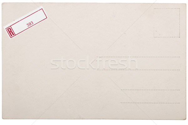 Old postcard, grunge paper with aging marks Stock photo © caimacanul