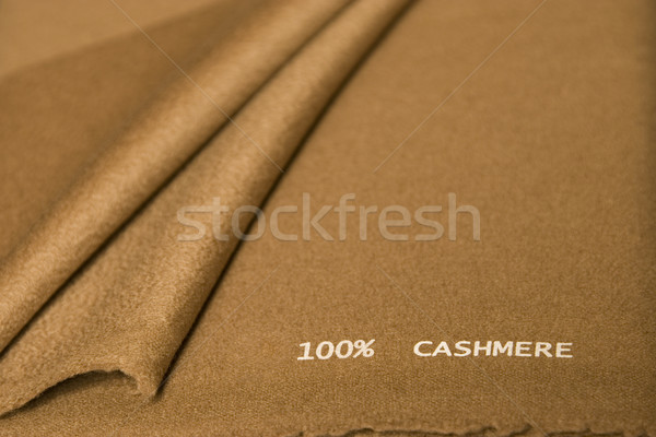 brown cashmere fabric Stock photo © caimacanul