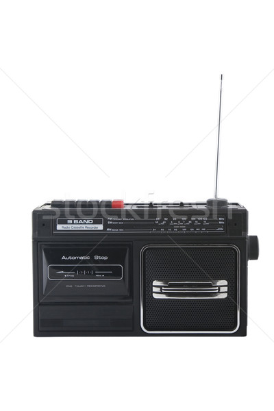 Vintage radio cassette recorder Stock photo © caimacanul