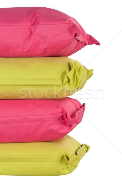 Fényes párnák izolált fehér boglya rózsaszín Stock fotó © caimacanul