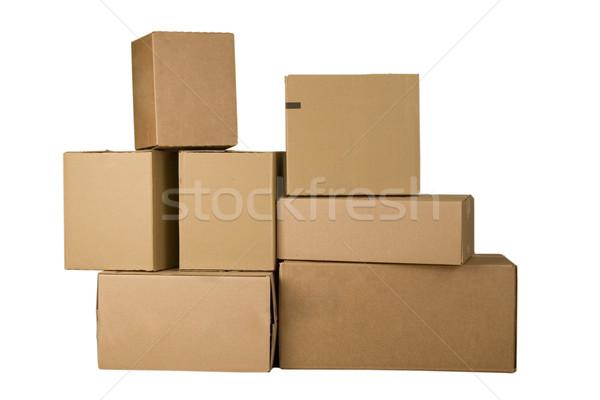 Stockfoto: Bruin · karton · dozen · verschillend · kantoor