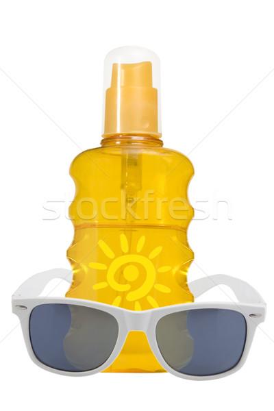 Olaj termék nap elleni védelem napszemüveg fehér nap Stock fotó © caimacanul
