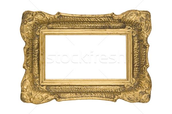 Klasszikus arany keret klasszikus fehér fal Stock fotó © caimacanul