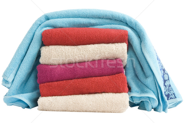 stacked of colorful towels Stock photo © caimacanul