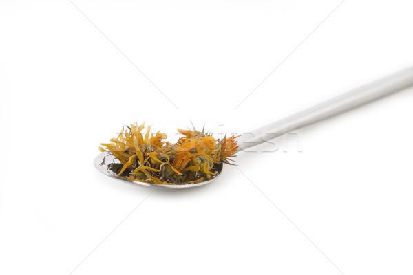 Completo colher secar dosagem chá flor Foto stock © caimacanul