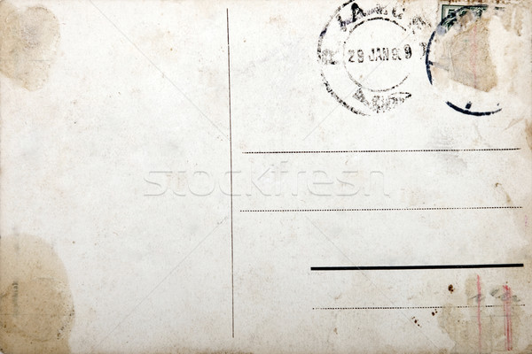 Stock photo: Old postcard, grunge paper with aging marks