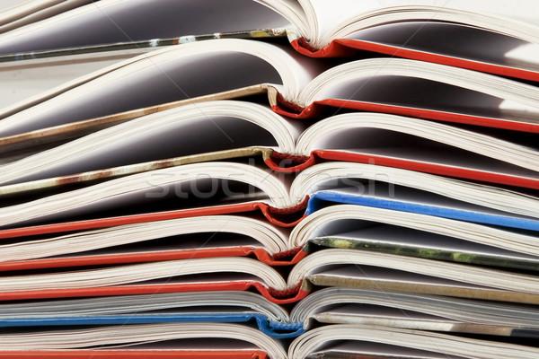 Köteg könyv görbület oldalak új fehér Stock fotó © caimacanul