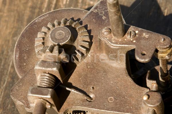 Rozsdás viselet közelkép mechanizmus háttér ipari Stock fotó © caimacanul