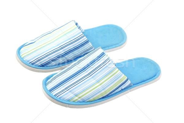 blue, textile, unisex slippers Stock photo © caimacanul