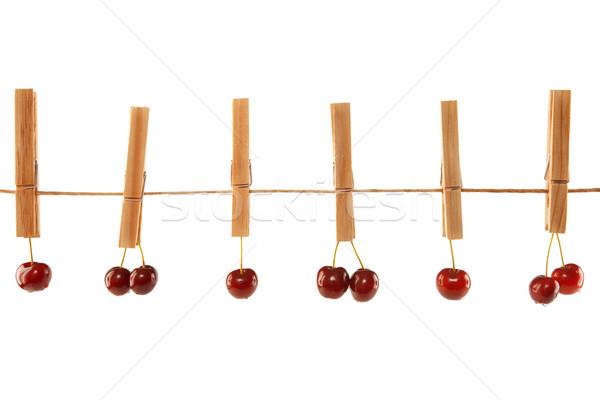 Stock fotó: édes · piros · anime · ruházat · vonal · izolált