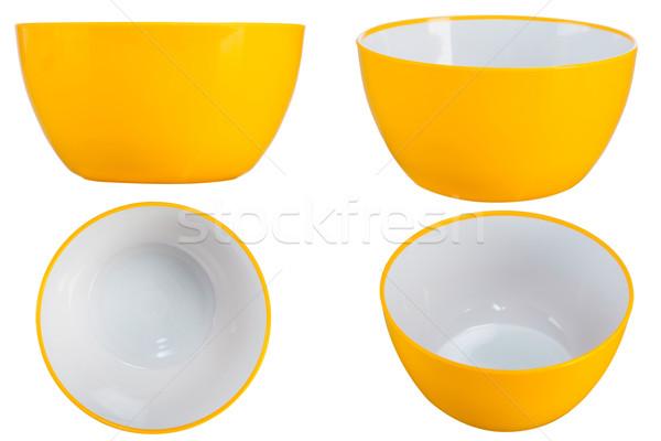 желтый чаши четыре точки мнение изолированный Сток-фото © caimacanul