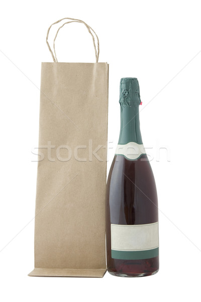 champagne bottle and brown bag Stock photo © caimacanul