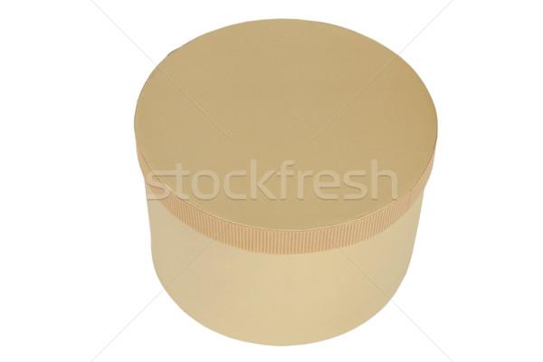 Kapalı kutu karton yalıtılmış beyaz kâğıt Stok fotoğraf © caimacanul