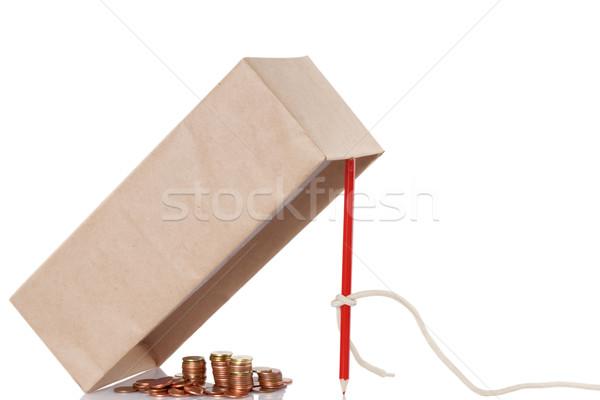 Geld val bedrog geïsoleerd witte business Stockfoto © caimacanul