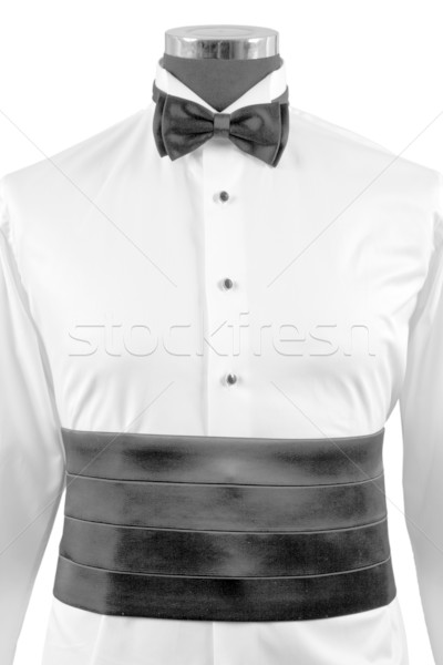 front view of bow tie and ceremony shirt Stock photo © caimacanul