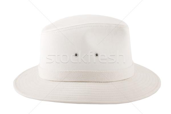 white fashion hat for safari Stock photo © caimacanul
