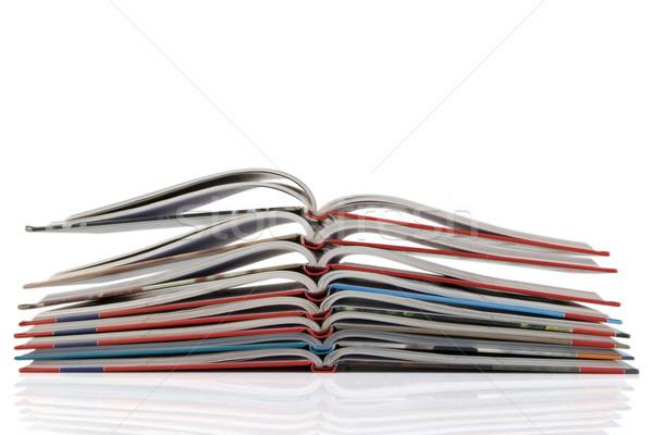 Köteg új könyv görbület oldalak fehér Stock fotó © caimacanul