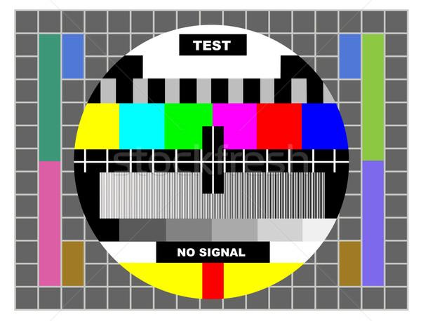 Tv szín teszt minta kártya éjszaka Stock fotó © caimacanul