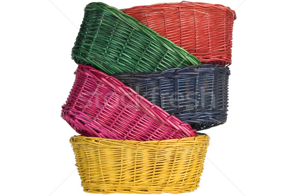 woven straw baskets Stock photo © caimacanul