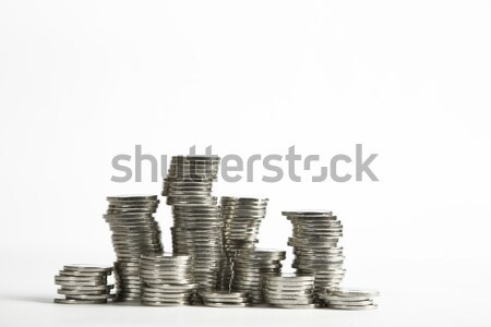 Stacks of silver coins Stock photo © caimacanul