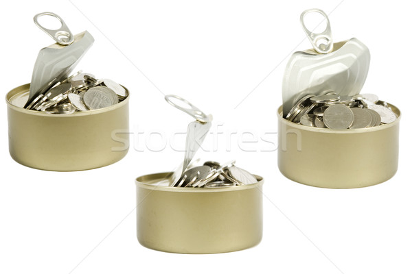 coins in a tin can Stock photo © caimacanul