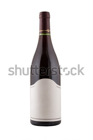 green bottle of wine with blank tag Stock photo © caimacanul