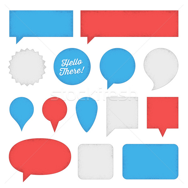 Speech Bubbles and Labels Stock photo © cajoer