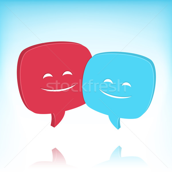 Speech Bubbles With Smiling Faces Stock photo © cajoer