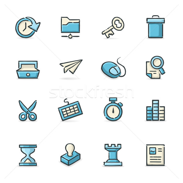 Business and Strategy Icons Stock photo © cajoer