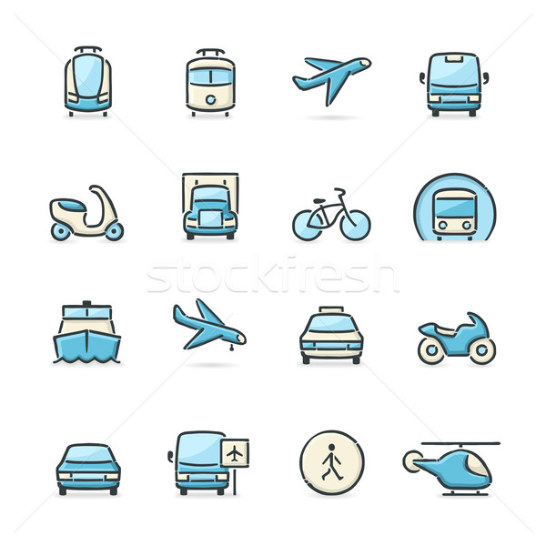 Transport Icons Stock photo © cajoer