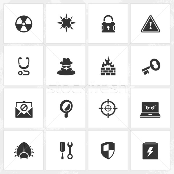 Antivirus and Security Icons Stock photo © cajoer