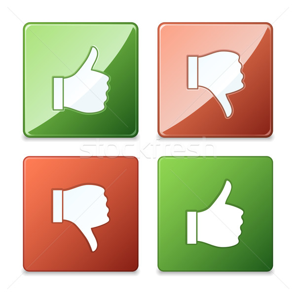Thumb Up and Thumb Down Icons Stock photo © cajoer