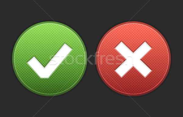 Stock photo: Approve and Deny Buttons