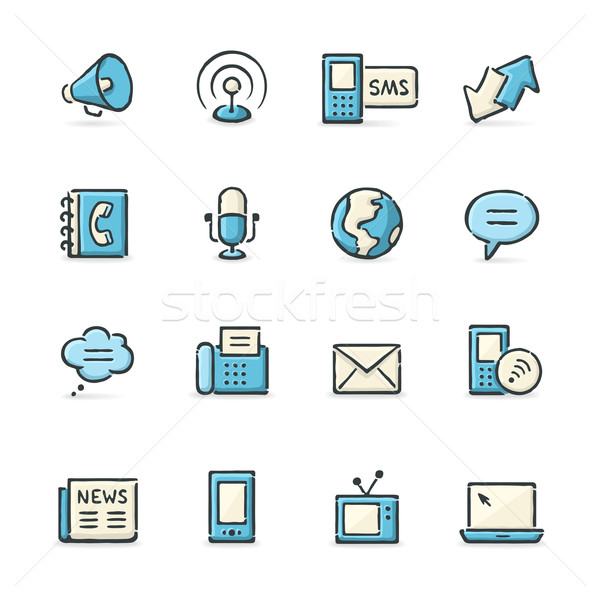Communication Icons Stock photo © cajoer