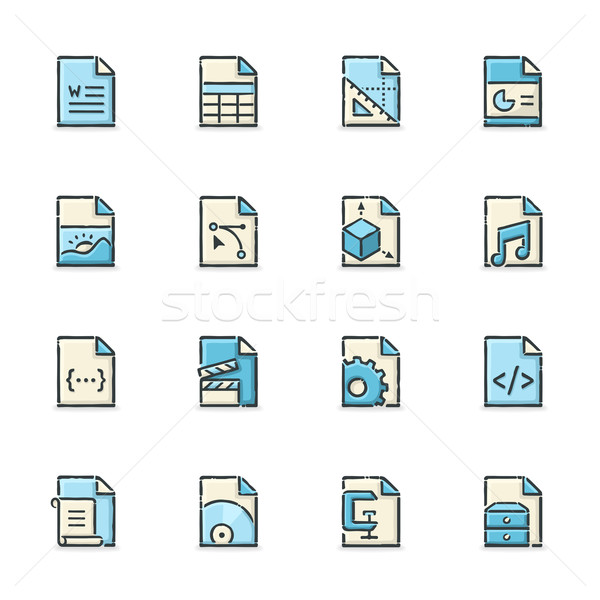 File Format Icons Stock photo © cajoer