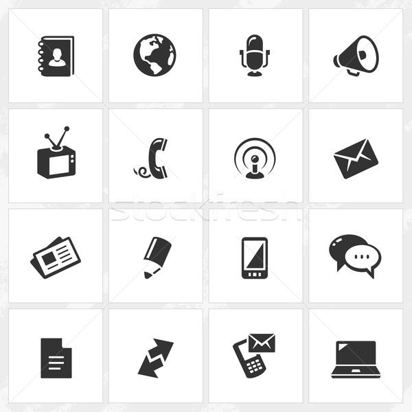 Stock photo: Communication Icons