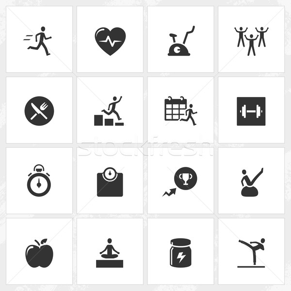 Fitness and Health Icons Stock photo © cajoer