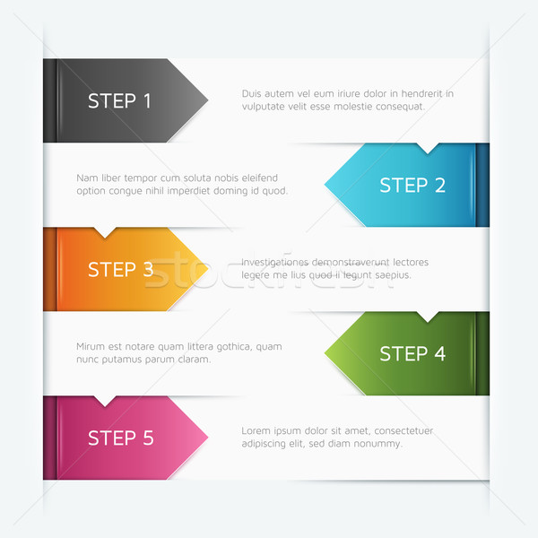 Infographics Template Stock photo © cajoer