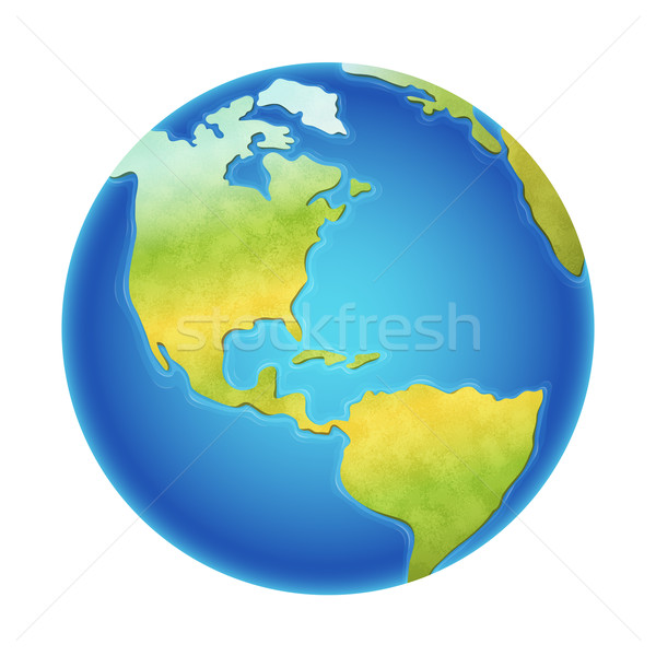 Vector Earth Illustration Stock photo © cajoer