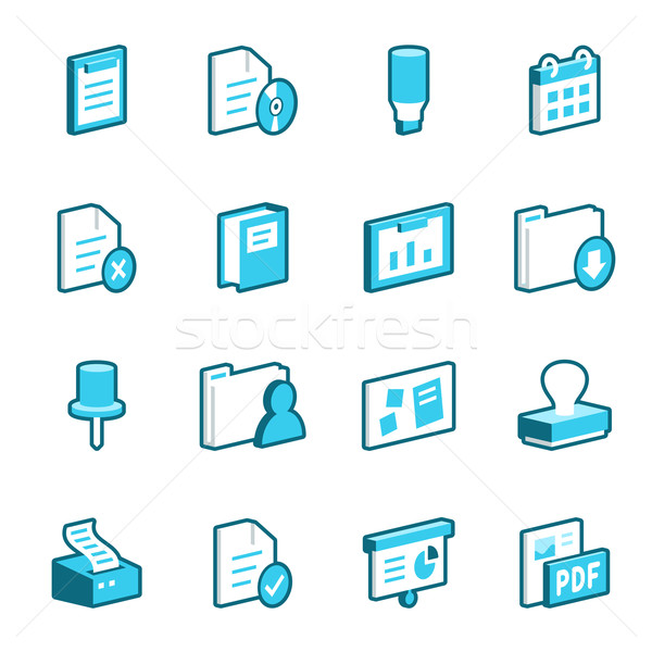 Office Icons Stock photo © cajoer