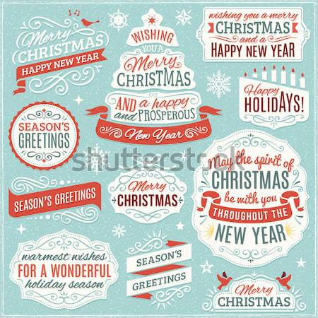 Collection of Christmas Vector Design Elements Stock photo © cajoer